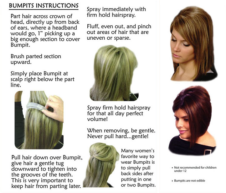 Hairstyles For Short Hair Using Bumpits : How to Use a Bump It